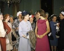 First Lady Jacqueline Kennedy at reception for editor's wives New 8x10 Photo