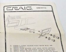 76-87 Chevrolet Chevette Craig Brand Dual Post Car Stereo Dual Post Install Kit