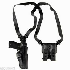 Galco Vertical Shoulder Holster, Ambi Black for Glocks  9/40's VHS226B