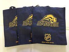 3 Buffalo Sabres Reusable Green Shopping Grocery Bags NEW NHL