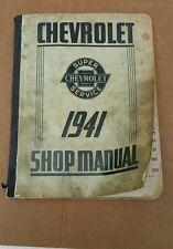 Chevrolet 1941 orginal shop manuel