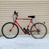 Schwinn Montague Biframe Folding Bike Red Black White