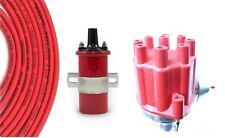 Billet Distributor 8.5mm Spark Plug Wires Coil 51-64 Studebaker 232 259 289 304