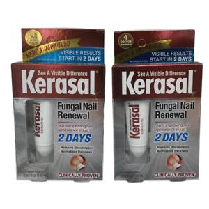 (New) Kerasal Fungal Nail Renewal Treatment - 10 ml (Pack of 2)