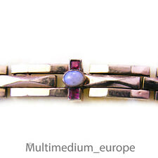 Jugendstil Armband Gold Double rubin f. opal farbener Stein art nouveau bracelet