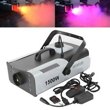 1500W Fog RGB 3in1 8 LED DJ Stage Smoke Machine With Wireless Remote