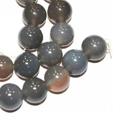 New 12mm Natural Grey Agate gemstone Round Beads 15''