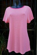 Striped Cotton Blend Knit Tops for Women