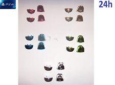 Kit de Boutons L1 R1 L2 R2 & Ressorts MANETTE PS4 Chrome Doré Vert Bleu Rouge
