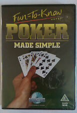 FUN TO KNOW: POKER MADE SIMPLE, REGION 2 DVD, NEW AND SEALED.