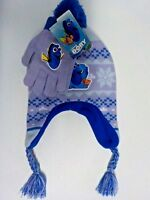 GIRLS ONE SIZE BERKSHIRE FINDING DORY KNIT HAT AND GLOVES SET NEW NWT #4571