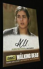 ALANNA MASTERSON AUTOGRAPH Walking Dead Season 4 Part 2 TARA CHAMBLER AM1 AUTO