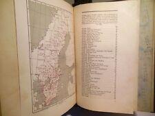 1925 Swedish Sweden Fold Out Maps Book Automobile Kungl Automobil Klubbens Karta