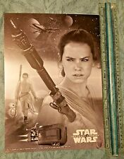 REY Star Wars Force Awakens Last Jedi 10x14 montage card # to 10 RARE exclusive