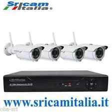 kit videosorveglianza ip camere wireless s07 completo NVR 8 ch Hd Sricam Italia