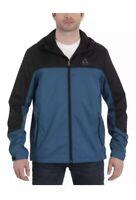 Gerry Mens Lightweight Jacket, Hooded, Docker Blue/Black, Size Medium