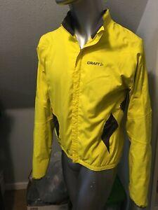 Craft L3 Protection Performance Mens SZ M Jacket Yellow Grey Zip Hypervent