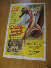 Liane, Jungle Goddess Original 1sh Movie Poster 1958 sexy 16 year-old