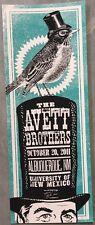 Avett Brothers Poster University of New Mexico Albuquerque, NM 10/20/11 RARE