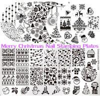 BORN PRETTY Nail Art Stamping Plates Christmas  Image Templates Stencil
