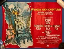 FORCE 10 FROM NAVARONE -1978, UK QUAD POSTER 30 X 40