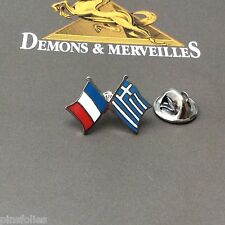 Pin's Folies *** Drapeau Flag France Grece  Demons & Merveilles