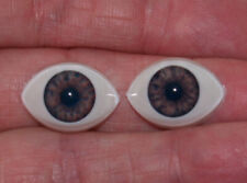 5 mm Blue Antique Oval Glass Eyes Dolls Ooak Clay Small Miniature