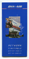 DAN AIR TIMETABLE WINTER 1988/89