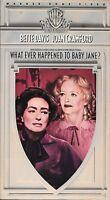 Whatever Happened To Baby Jane (VHS) Joan Crawford, Bette Davis 1962