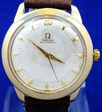 EXCELLENT ORIGINAL FANCY VINTAGE 1952 OMEGA BUMPER AUTOMATIC WATCH SERVICE 354