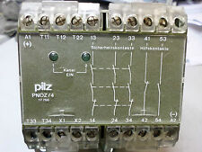 PILZ -PNOZ/4 - 474995 SAFTEY RELAY 24DC  2 CHANNEL - 3 SAFETY CONTACTS  + AUX