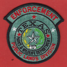 TEXAS PUBLIC LANDS DIVISION PARKS WILDLIFE   POLICE SHOULDER PATCH SUBDUED