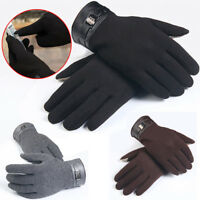 Mens Winter Full Finger Gloves Smartphone Touch Screen Cashmere Gloves Mittens
