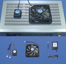 Mega-fan Receiver/Amplifier thermoswitch-controlled, multispeed cooling fan unit