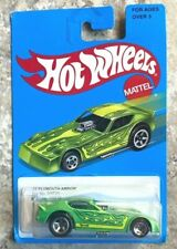 Hot Wheels '77 Green Plymouth Arrow Target Series Blue Card   BB