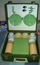 VINTAGE GREEN CASE PICNIC SET POSSIBLY BREXTON OR SIRRAM