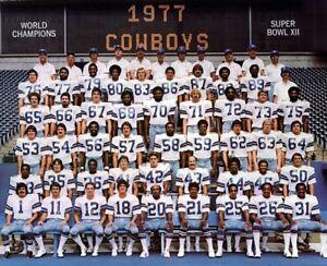 NFL 1977 Super Bowl Champs Dallas Cowboys Color Team Picture 8 X 10 Photo Pic