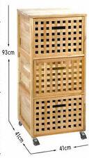 Walnuss Rollcontainer 3 Schubladen - Schubladenschrank Rollwagen Wäschebox Box