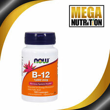 NOW Foods B-12 1000mcg 100 Lozenges | Nervous System Health Soluble Vitamins