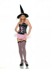 Leg Avenue 3 Piece Sexy Pink Witch Fancy Dress Party Costume Halloween (83233)