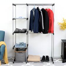 Closet Organizer Garment Rack Home Portable Clothes Hanger Storage Rack Shelf
