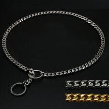 Heavy Duty Dog Chain Collar P Choke/Check Slip Training Show Collars Gold Silver