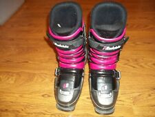 Raichle Flexon Comp 6.5 girls pink / gray ski boots