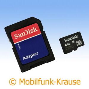 Speicherkarte SanDisk microSD 4GB f. Samsung GT-S5300 / S5300