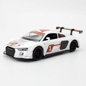 Audi R8 LMS 2015 Racing Car 1:32 Model Car Diecast Toy Vehicle Sound Light White