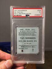 1974 Van Morrison Free Trade Hall Concert Ticket Manchester England