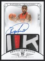 2014-15 National Treasures BRUNO CABOCLO ROOKIE PATCH AUTO #118 Rockets RC 26/99