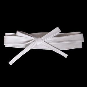 Women's Real leather Waist Belt Bow Self Tie Wide Sash Corset Waistband Cinch