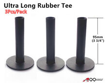 "A99 Golf Ultra Long Rubber Tee Black 3 3/4"" (95mm) (3pcs)"