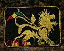 Lion of judah reggae one love biker motorcycle embroidered vest  patch iron on